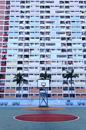 Old public populated housing estates in Hong Kong, China
