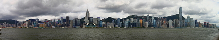 Panoramic view of Hong Kong skyline across Victoria Harbour, Hong Kong