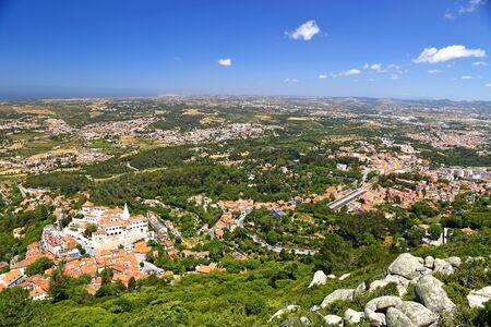 The Castle of the Moors (Castelo dos Mouros ) medieval castle in Sintra, Portugal.