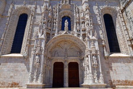 Mosteiro dos Jeronimos in Belem in Lisbon, historic monastery in Portugal