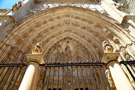 Santa Iglesia Catedral Primada de Toledo, Catedral Primada Santa Maria de Toledo, Spain built in Mudejar gothic style.
