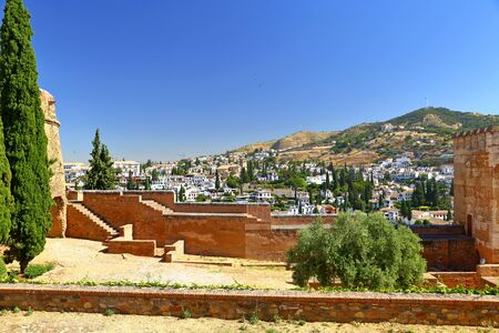 beautiful Moorish Style design of Alhambra Granada - Andalusia, Spain, Europe Stockfoto