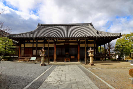 Traditional Japanese architecture in the Byodoin Complex at the city of Uji, Kyoto, Japan. Editorial