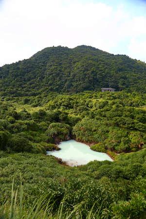 Milk Lake near Jingshan Bridge near Qingtiangang Grassland, Yangmingshan, Taiwan 免版税图像