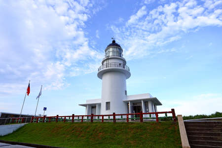 Sandiaojiao lighthouse, located in New Taipei City, Taiwan (also known as The Cape Santiago lighthouse)