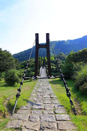Jingshan Suspension Bridge near Qingtiangang Grassland, Yangmingshan, Taiwan