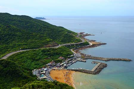 Dawulun Fishing Harbor and Dawulun Sand beach in Keelung Taiwan