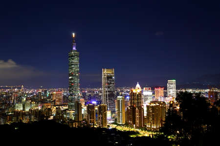 The modern city of Taipei, buildings cityscapes  view the capital of Taiwan. 新闻类图片