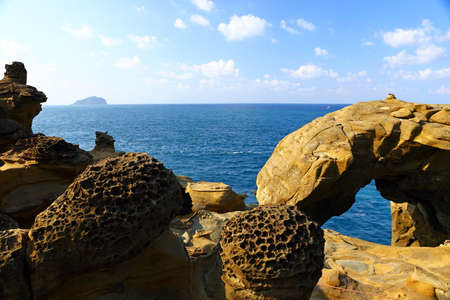 Shenao Elephant Rock located at the northern coastal area of Ruifang district, Taipei, Taiwan