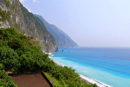 View of Qingshui Cliff, parts of Taroko National Park, located at Hualien, eastern Taiwan