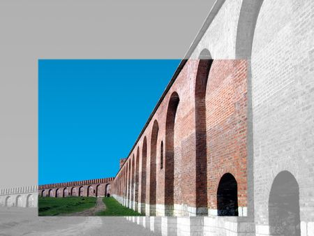 embrasure: old fortress Stock Photo