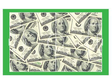 stockexchange: football money Stock Photo