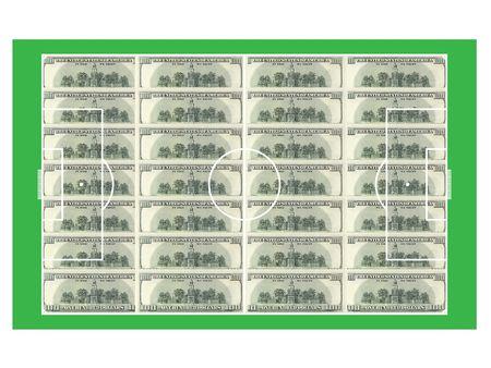 voetbal geld     Stockfoto