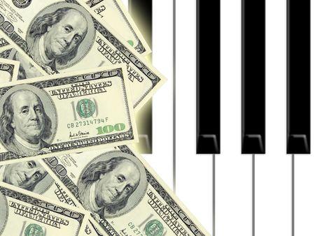 stockexchange: dollars and piano