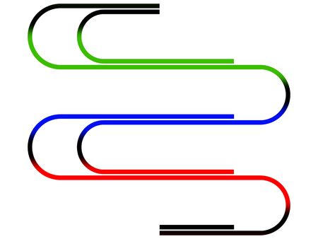 affix: Writing paper clips on a white background