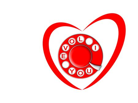 heart and dial Stock Photo