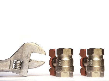 worm gear: adjustable spanner and valves