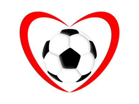 outline red: football love