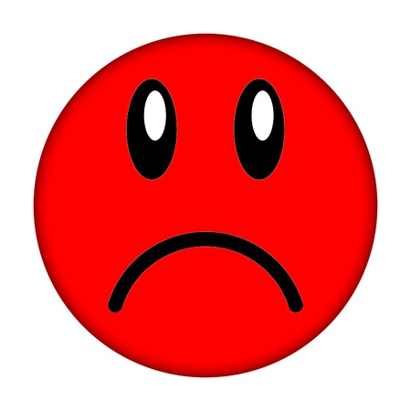 dissatisfied: smiley face             Stock Photo