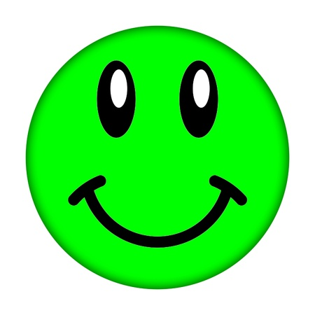 green and black: smiley face             Stock Photo