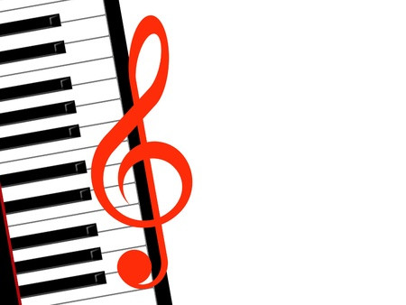 treble clef and piano Stock Photo - 10628183