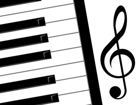 treble clef and piano photo