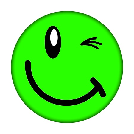 wink: smiley face
