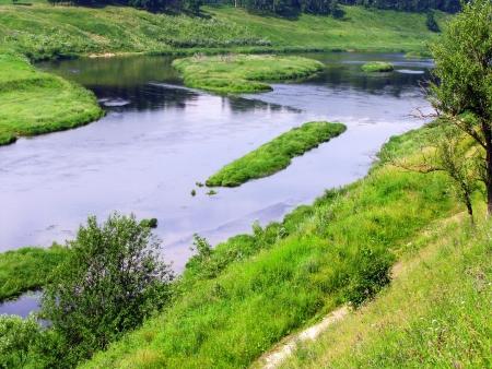 the volga river: View of the Volga river in Rzhev town Stock Photo