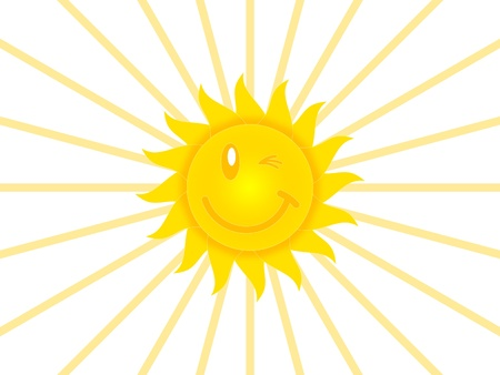 Symbol of the sun on a white background Stock Photo - 15695407