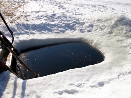 Ice hole photo