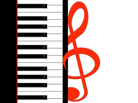 pianoforte: Treble clef and piano keys