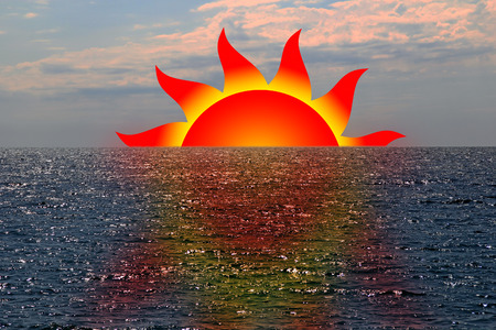 protuberance: Symbol of the sunset