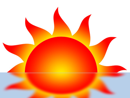 protuberance: Symbol of the sun and its reflection