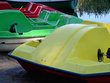 paddle: Paddle boats Stock Photo