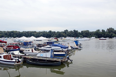 anchorage: Anchorage of the boats on the river