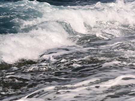 breaking: The sea waves breaking on the coast