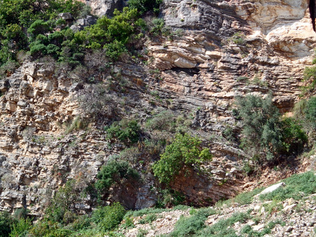steep: View of the steep cliff Stock Photo