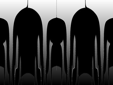 absurd: Surreal figures on a black-and-white background