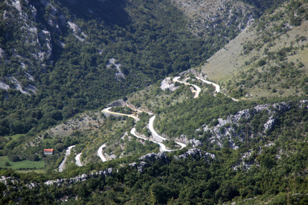 abrupt: mountain landscape Stock Photo