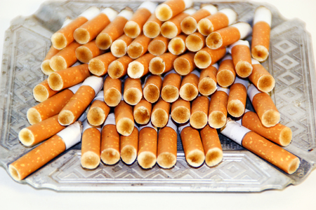 pernicious habit: cigarette butts