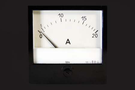 ammeter: Ammeter on a black background
