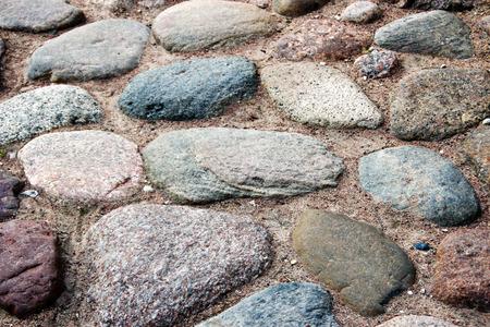 uneven edge: cobblestones Stock Photo