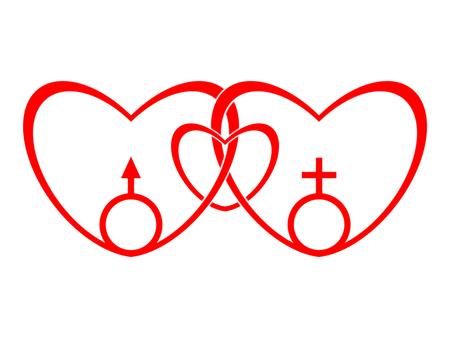 heterosexuality: Symbol of the traditional family Stock Photo