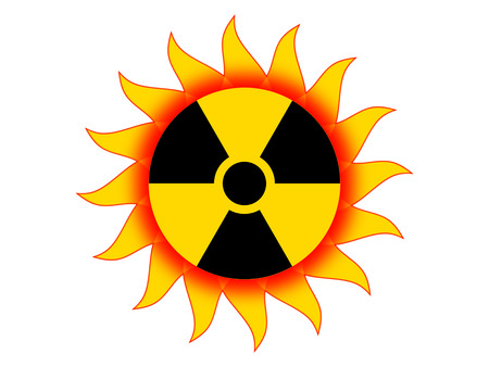 radioactive: Radioactive sun Stock Photo