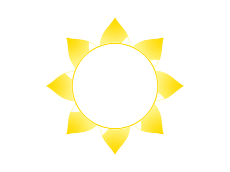 Symbol Of The Sun On A White Background Stock Photo Picture And