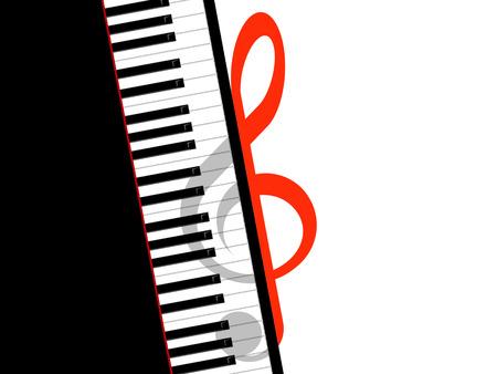 pianoforte: Treble clef and piano
