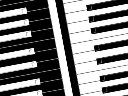 pianoforte: Black and white keys of the piano Stock Photo