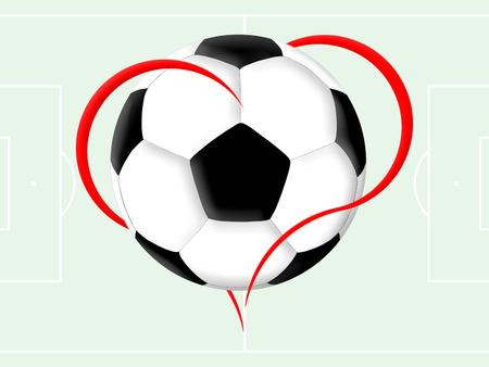 soccer: Soccer love Stock Photo