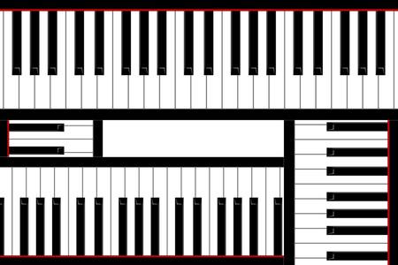 pianoforte: Four pianos keys