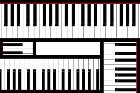 blanc: Four pianos keys